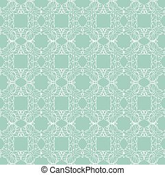 Vector Sea Green Abstract Drawing Seamless Pattern graphic...