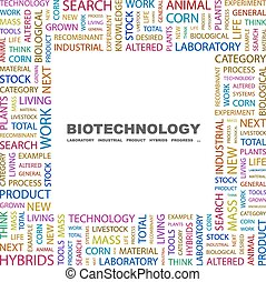 BIOTECHNOLOGY. Background concept wordcloud illustration....