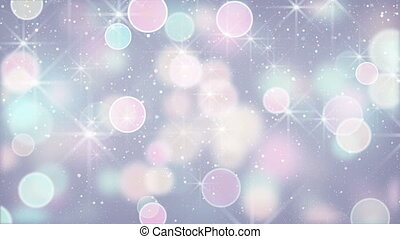 elegant color circle bokeh lights loopable background -...