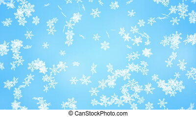 falling snowflakes seamless loop winter background - falling...