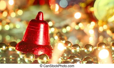 bell holiday decoration close-up seamless loop