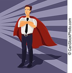Vector businessman with money