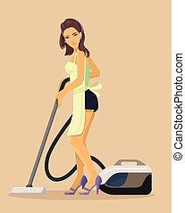 Vector housewife