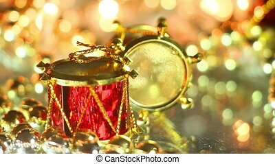 drum holiday decoration close-up seamless loop