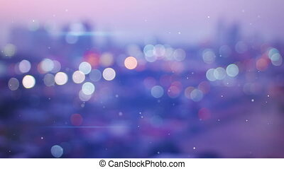 defocused lights of night city seamless loop background