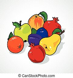 Vector Fruit Still Life