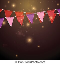 bunting flags decorative elements for design - vector...