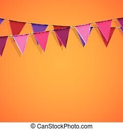 bunting flags. decorative elements for design - vector...