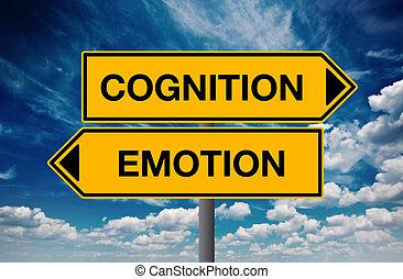 contra, cognição, conceito, Emoção, escolha