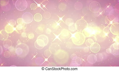 bright circle bokeh and stars festive loopable background -...