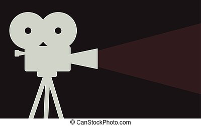 cinema projector background cinematography symbol vector...