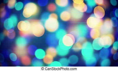 circle bokeh lights loopable techno background