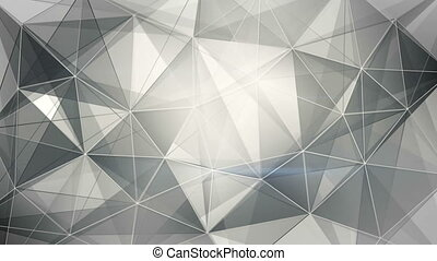 abstract black and white web background loop
