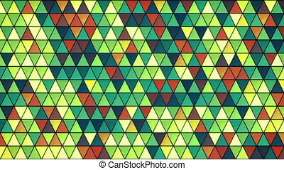 colorful glass triangles pattern seamless loop background -...