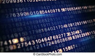 digital code on screen seamless loop - digital code on...