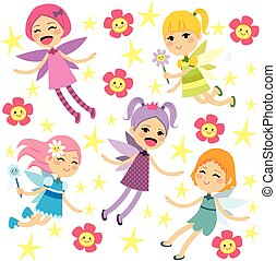 Cute Fairies Flying Collection