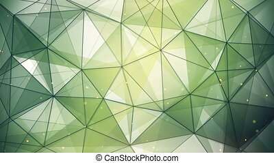 abstract geometric background triangles and lines loop -...