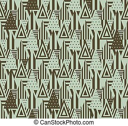 Geometric pattern with triangles - Triangular seamle