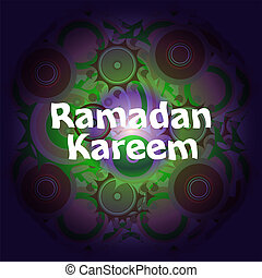 Arabic Islamic calligraphy of text Ramadan Kareem on abstract background
