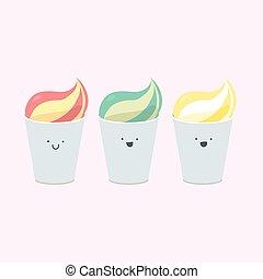 Vector set of ice-creams