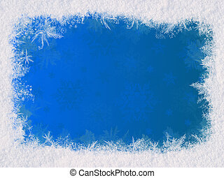 Winter frame for the congratulations The blue background and...