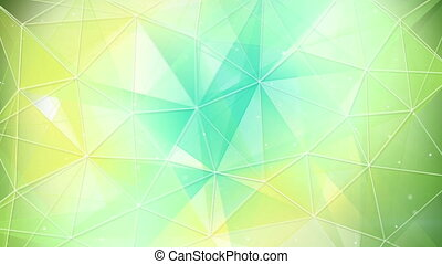 cyan and yellow triangles pattern seamless loop - cyan and...