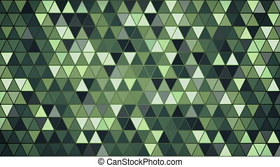 dark green triangles pattern seamless loop background