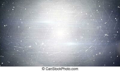 particles over metal seamless loop background