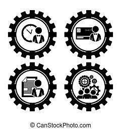 Workforce design - Worforce design over white background,...
