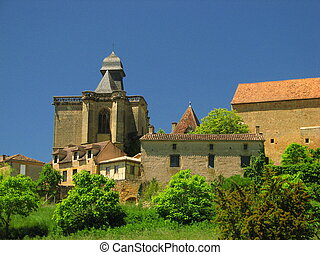 Church and Castle Of Biron, Perigord - Perigord, Qurecy, in...