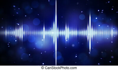 blue digital equalizer loopable background - blue digital...