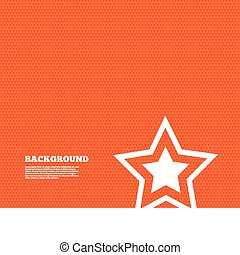 Star sign icon. Favorite button. Navigation - Background...