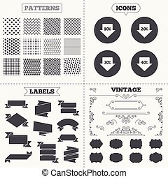 Sale arrow tag icons Discount symbols - Seamless patterns...