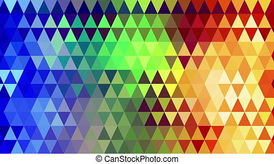 rainbow spectrum triangles geometric loopable background -...