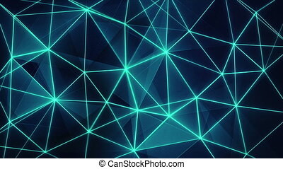futuristic glowing blue network seamless loop