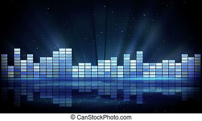 blue shiny equalizer loopable background - blue shiny...