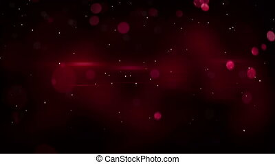 red bokeh circles and light flares loopable background - red...