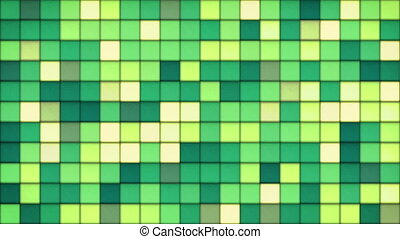 green tiles glass mosaic seamless loop background - green...