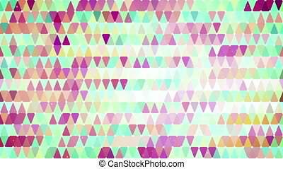 colorful triangles loopable geometric background