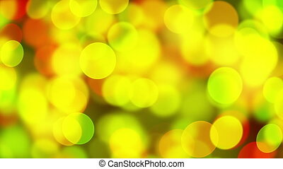 green yellow circle bokeh lights loopable background - green...