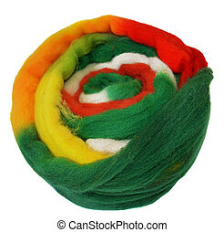 Wool for wet felting - Overflowing multicolor wool for wet...