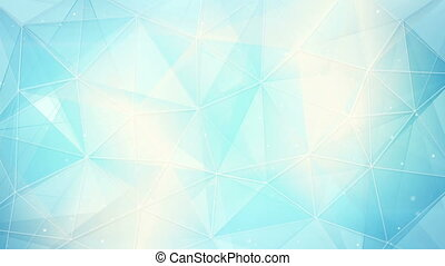 futuristic light blue triangles pattern seamless loop