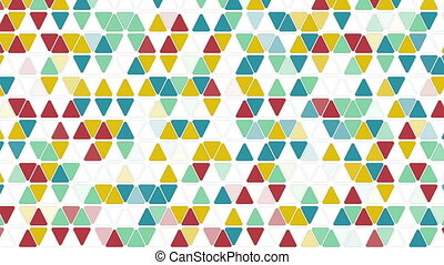 colorful triangles seamless loop geometric background