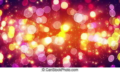 yellow pink bokeh lights loopable background - yellow pink...