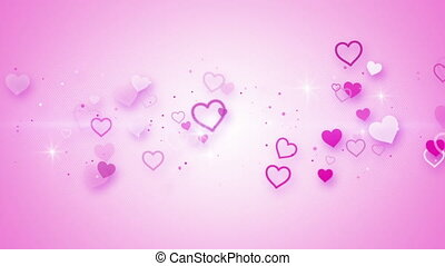 pink elegant hearts seamless loop animation