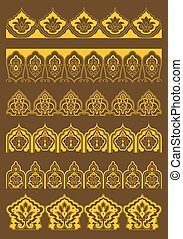 Arabesque borders with persian floral ornaments