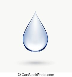 Vector Blue Water Drop Icon Isolated