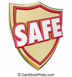 Safe Gold Shield Reduce Risk Avoid Danger Protection...