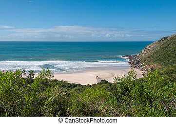Beaches in florianopolis island, in South Brazil.