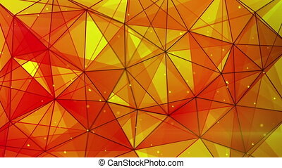 orange triangles web pattern loopable - orange triangles web...
